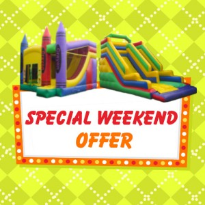 special weekend offer alans bouncy castles