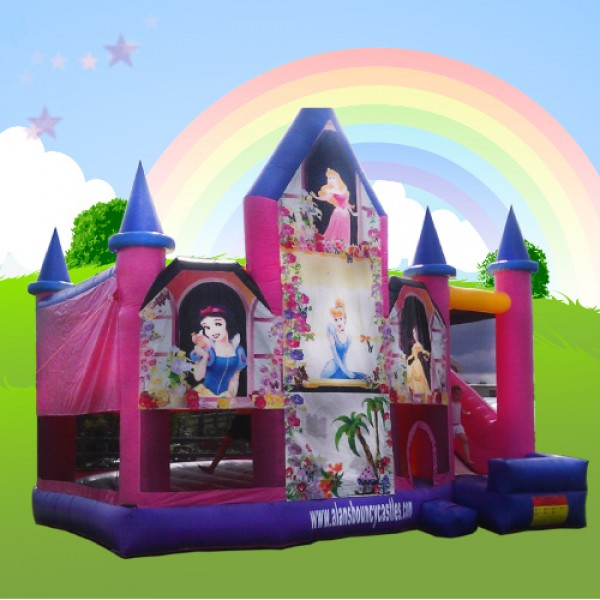 Princess combi alans bouncy castles