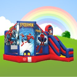 spiderman combi alans bouncy castle