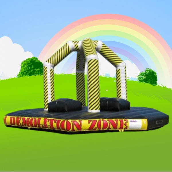 demolition zone alans bouncy castles