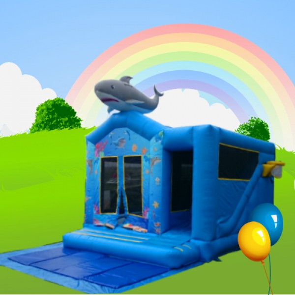 Shark combi alans bouncy castles